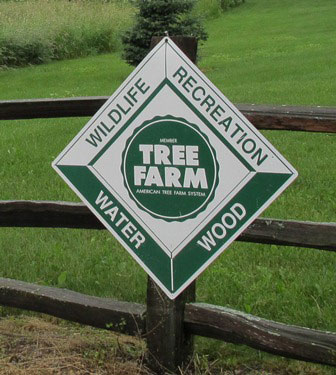 American Tree Farm System sign